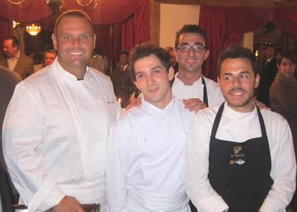 Bobo Cerea e i cuochi che con lui hanno cucinato al Festival di Gastronomia di Tiradentes