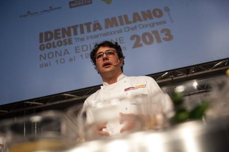 Fabio Barbaglini, premio Birra in Cucina all'ultima edizione di Identità Milano (foto Alessandro Castiglioni)