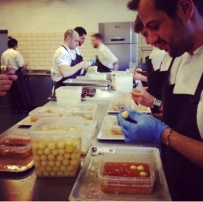 At work! Our Matteo accepts every challenge: including peeling potatoes (photo by minty_pjdk)