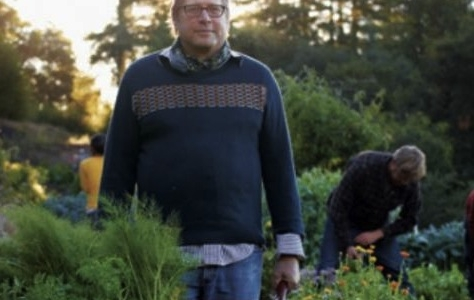 """David Kinch in one of his biodynamic vegetable gardens in Los Gatos. His lesson is scheduled on Monday 11th February in the Auditorium. The theme: """"The revolutionary value of respect """""""