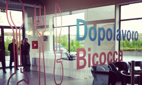 L'insegna del Dopolavoro Bicocca, il ristorante dell'HangarBicocca inaugurato lo scorso aprile