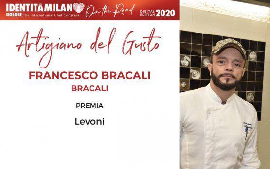 Levoni premia come Artigiano del Gusto Francesco Bracalidel ristorante Bracali di Massa Marittima (Grosseto)