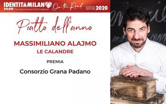 Consorzio Tutela Grana PadanopremiaMassimiliano Alajmo,de Le Calandre di Rubano (Padova),per il Piatto dell'Anno
