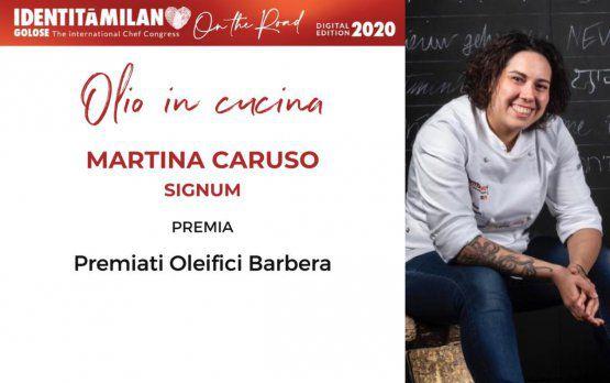 Oleificio Barberapremia Martina Caruso, ristorante Signum di Salina (Messina),col premio Olio in Cucina