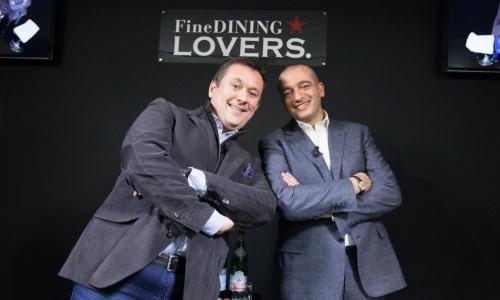 Emanuele Scarello e Pino Cuttaia. Foto di Sonia Sa