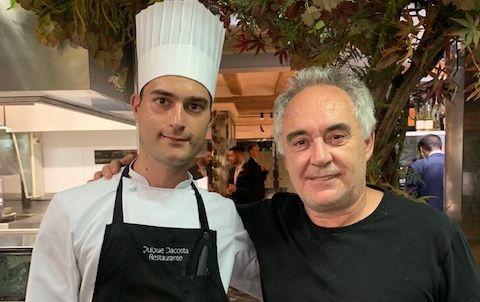 Federico Altomani con Ferran Adrià