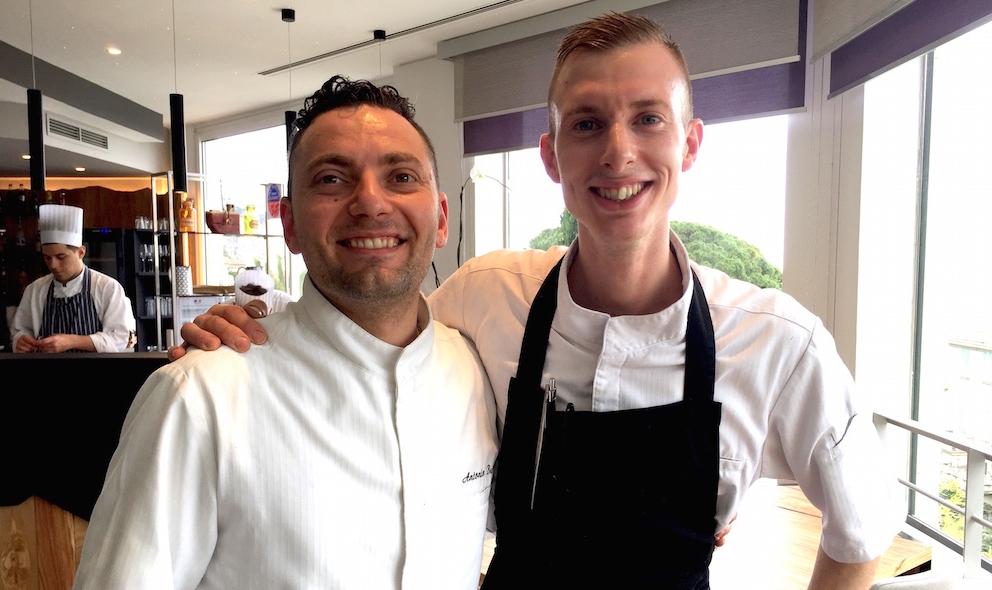 Antonio Buono (30 anni, napoletano) e Davide Garavaglia (28, milanese). Sono rispettivamente il co-chef e il saucier del Mirazur di Mentone, il ristorante dell'argentino Mauro Colagreco, quarto al mondo nella classifica della World's 50Best 2017, 2 stelle Michelin. E la capo-pasticciera èRoberta Gesualdo, 32enne romana