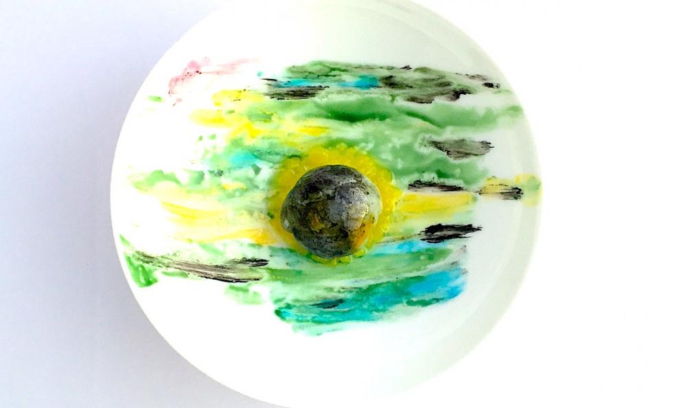 Acciuga al verde è il piatto 2017 proposto a Identità Golose da Enrico Crippa, chef del Piazza Duomo di Alba (Cn)