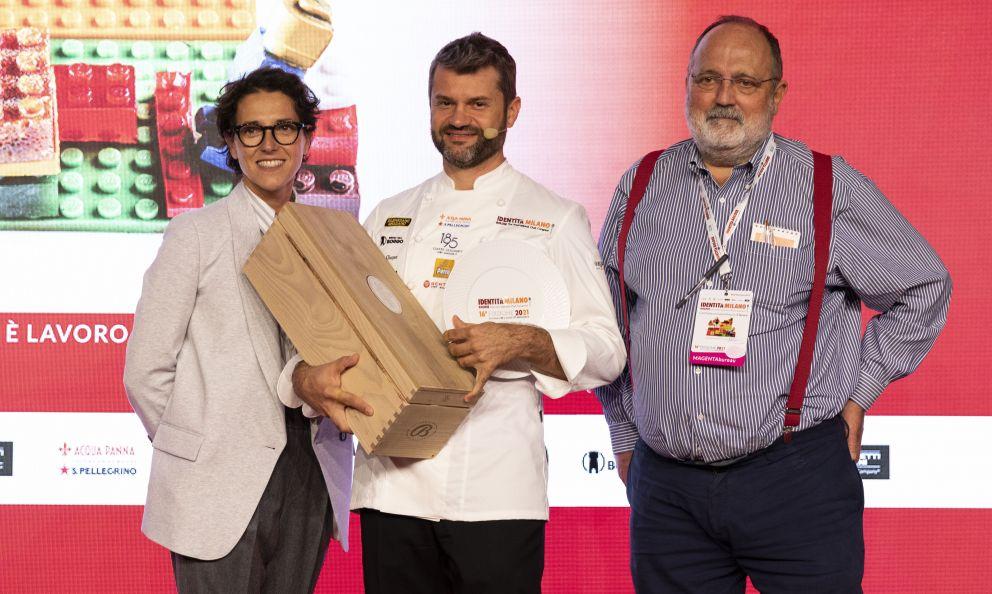 BellavistapremiaEnrico Bartolinidel ristorante Enrico Bartolini al Mudecdi Milanocome Cuoco dell'Anno