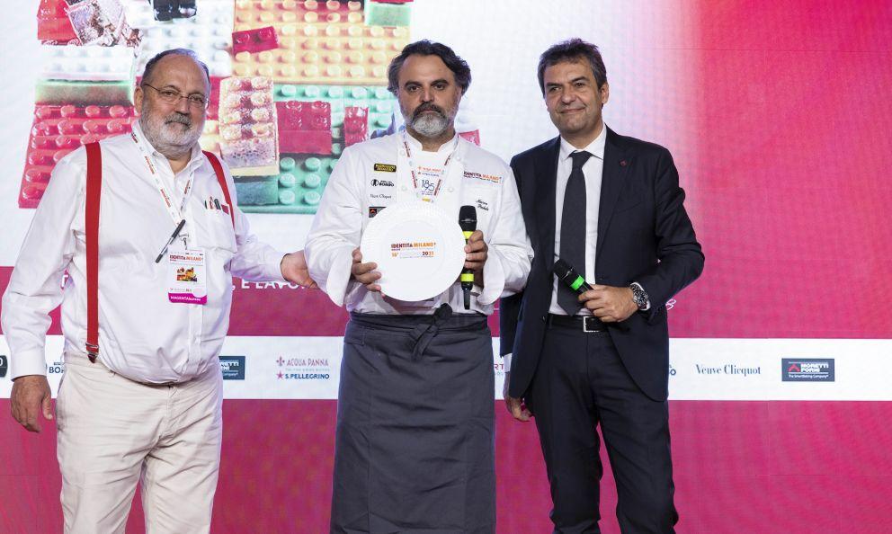 Moretti Forni premia Marco Stabile, del ristorante Ora d'Aria di Firenze, col premio Identità di Cottura