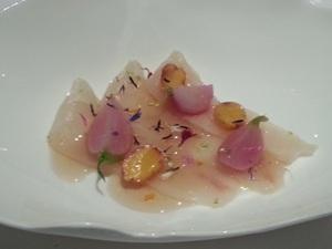 The extraordinaryMarinated lavaret with season radish