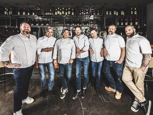 Cena all'Asola di Milano con sette grandi chef