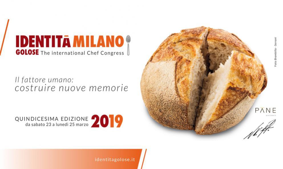 Il Pane di Niko Romito sarà il piatto simbolo di Identità Milano 2019 (foto Brambilla-Serrani)