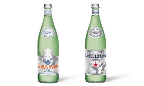 Le bottiglie di Acqua Panna e S.Pellegrino dedicat