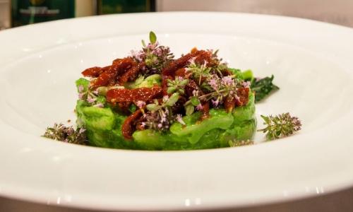 I Cavatelli con crema di broccoli e fiori d'origan