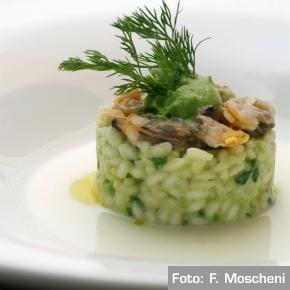 """Riso """"affumicato"""" con broccoli e vongole di Tonino Cannavacciuolo"""
