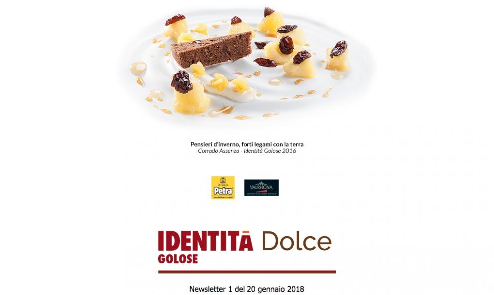 Il logo di Identità Dolce, la nuova newsletter di Identità Golose oggi al debutto. Per iscroversi e riceverla gratuitamente, clicca qui e compila il form