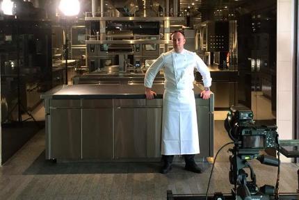 Simone Perata, nuovo chef della A-Spurcacciuna dei fratelli Tiraninial Mare hotel di Savona