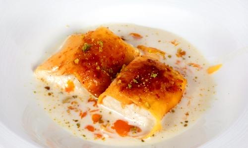 Sopa de chufas, pan y mango di Sandó by Arzak Instructions