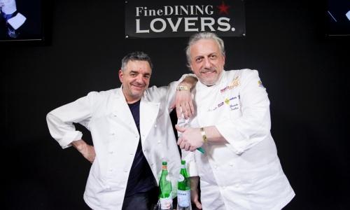 Mauro Uliassi e Davide Scabin. Foto di Sonia Santa
