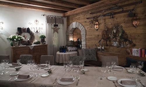 Il ristorante Stube dell'Hotel Europa di Asiago (V