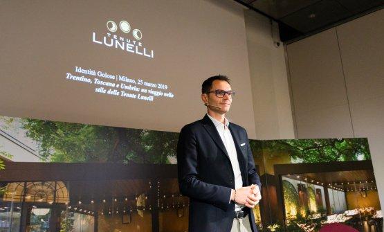 Alessandro Lunelli presenta le Tenute(foto Brambilla/Serrani)