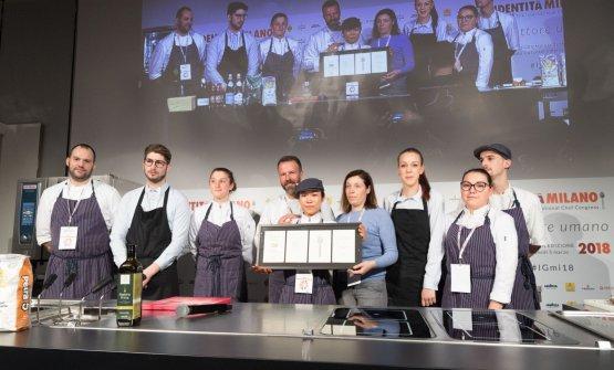 La squadra de I Tigli di Simone Padoan al completo a Identità Milano