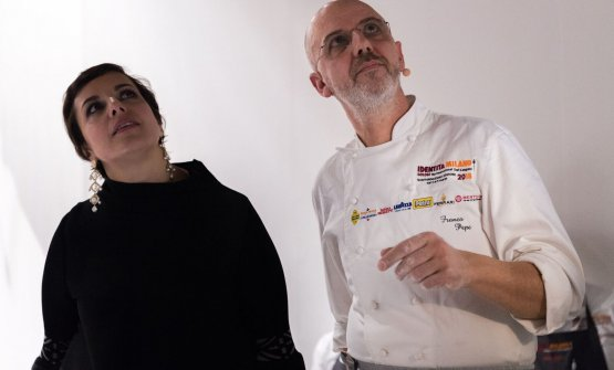 Pepe con Francesca Romana Barberini, che ha presentato le lezioni