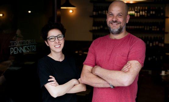 Tommaso PennestrieValeria Payero, chef e sommelier: da poco più di un anno hanno aperto la Trattoria Pennestri a Roma, raccogliendo un immediato successo