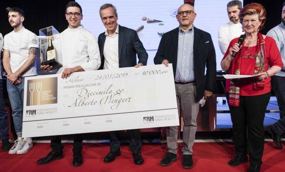 Alberto Francesco Wengert con Alfredo Pratolongo,Claudio Sadler e Annie Féolde