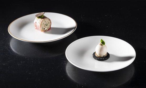 ...per poi andare con i piatti veri e propri. Inizia Servetto con due appetizer: Cima alla Ligure e Piscialandrea (tuttii piatti li abbiamo descritti qui)