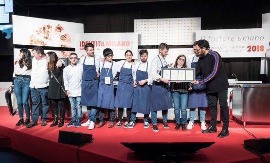 Luca Abbruzzino sul palco dell'Auditorium con tutta la sua squadra