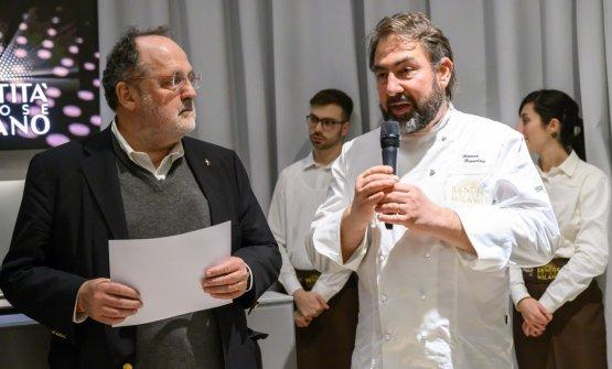 Franco Franciosi con Paolo Marchi