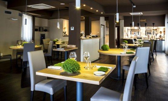 La sala del ristorante di Lavagna (Genova) Impronta d'acqua
