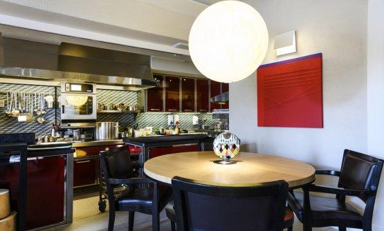 La sala del ristorante Casa Perbellini