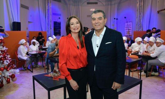 Tessa Gelisiocon Claudio Ceroni, con Paolo Marchi fondatore di Identità Golose