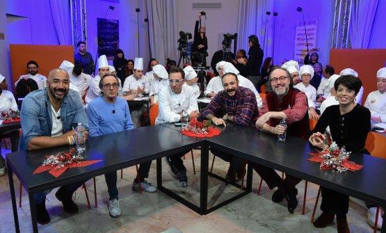 Alcuni membri della giuria: da sinistra Amaurys Pérez, Nino Formicola, Stefano Ciotti, Diego Rossi, Gianluca De Angelis, Vasiliki Pierrakea
