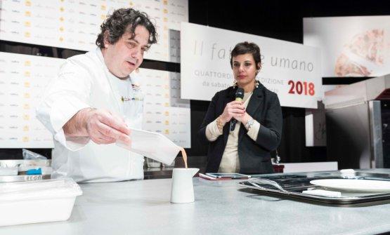 Gianluca Fusto con Francesca Romana Barberini, che ha presentato tutte le lezioni di Dossier Dessert