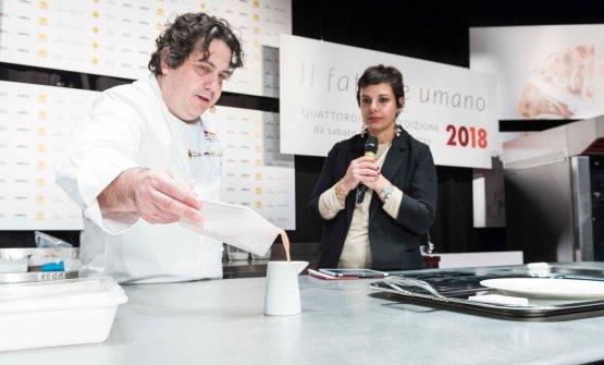 Fusto con Francesca Barberini, presentatrice di Dossier Dessert all'ultima edizione di Identità Milano