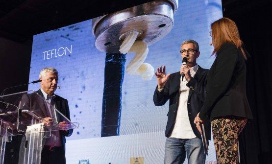 Marco Niccolai, Riccardo Felicetti e Eleonora Cozzella, presentatrice della lezione