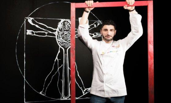 Andrea Aprea è un grande chef che ama le sfide. Lo ha dimostrato anche a Identità Milano 2018, dove era chiamato a tenereuna lezione all'interno del programma di Identità di Formaggio (foto Brambilla-Serrani)