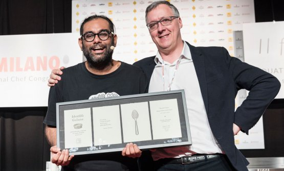 Gaggan with Gabriele Zanatta, who presented his lesson