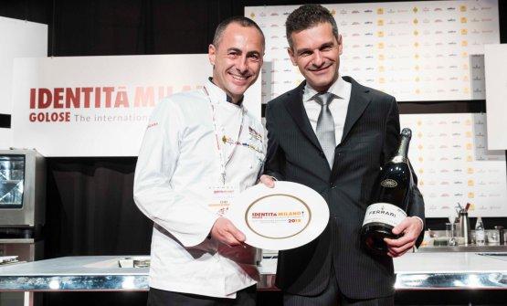 Lo chef Francesco Apreda e Marco Amato sorridenti