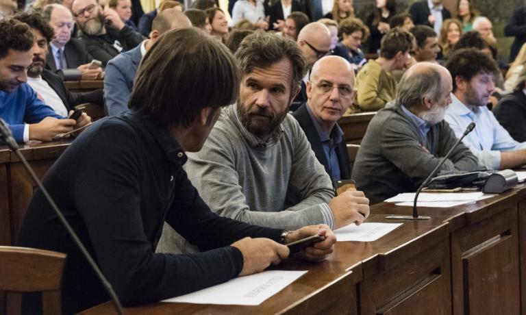 Grandi nomi in prima fila, nella sala Cavour del Mipaaf: tra i tanti ancheDavide Oldani, Carlo Cracco, Franco Pepe, Corrado Assenza e Cesare Battisti