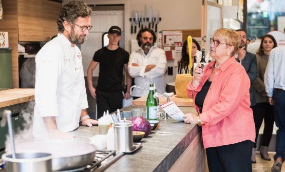 Carlo Cracco and Lidia Bastianich