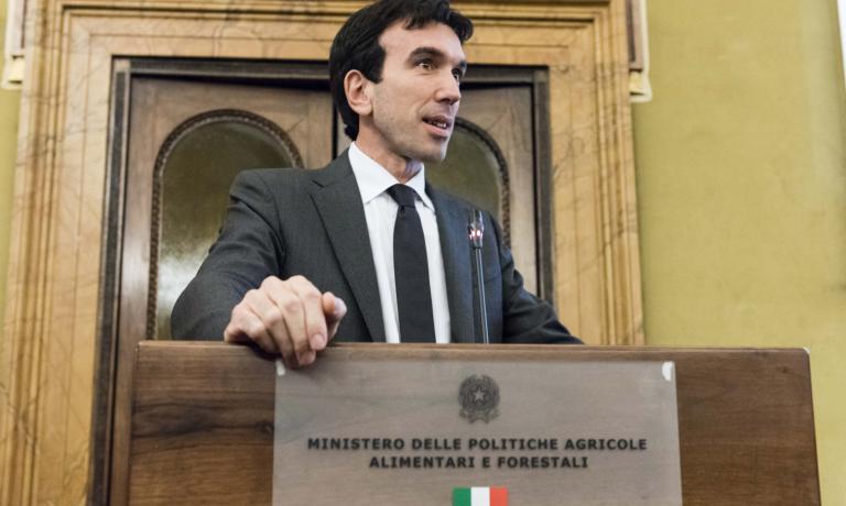 The greeting of minister Maurizio Martina