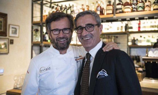 Carlo Cracco andRiccardo Felicetti