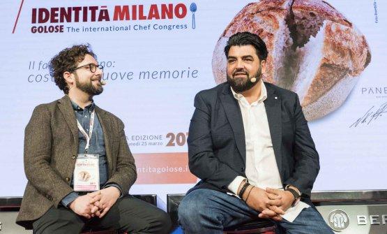Dante Sollazzo e Antonino Cannavacciuolo, sul palco con Federico Quaranta