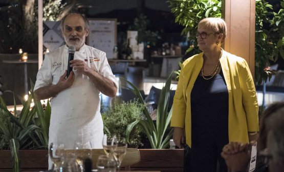 Assenza and Lidia Bastianich
