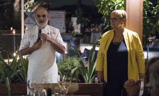 Assenza e Lidia Bastianich